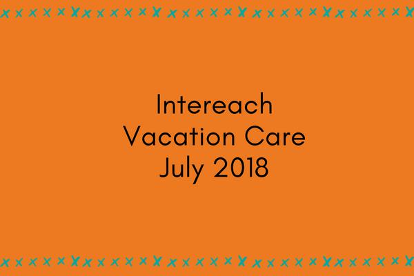 Intereach Vacation Care July 2018 program