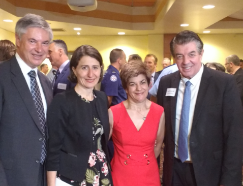 Image: (Left to right) Greg Aplin-Member for Albury, Gladys Berejiklian-Premier of NSW , Mary Catanzariti – community member and poet , The Hon. Ray Williams MP – Minister Disability Services.
