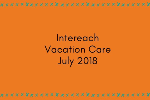 Intereach Vacation Care July 2018 program