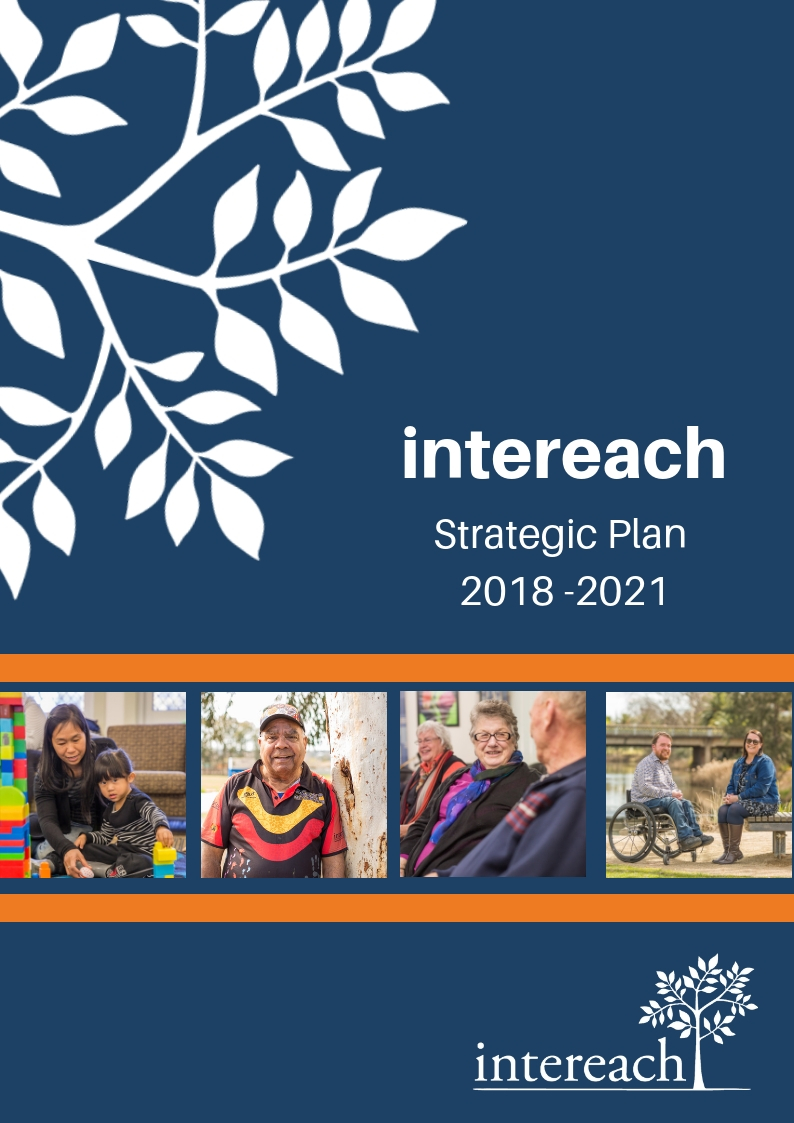 'Intereach Strategic Plan 2018-2021' poster