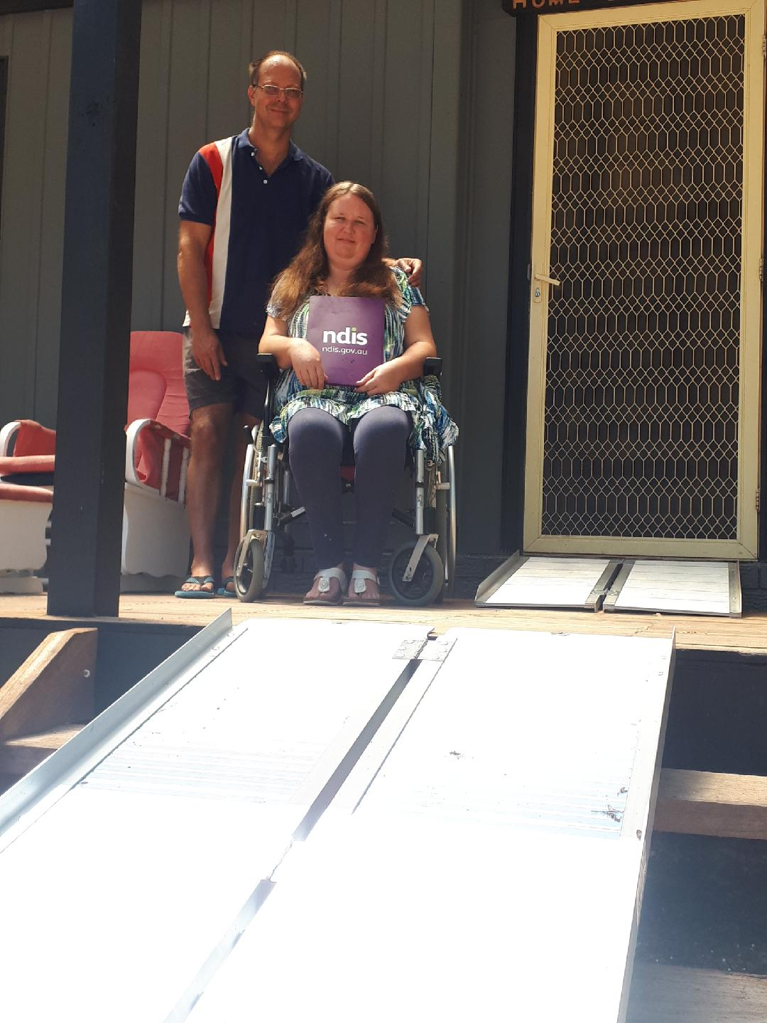 Couple's life-changing NDIS plan
