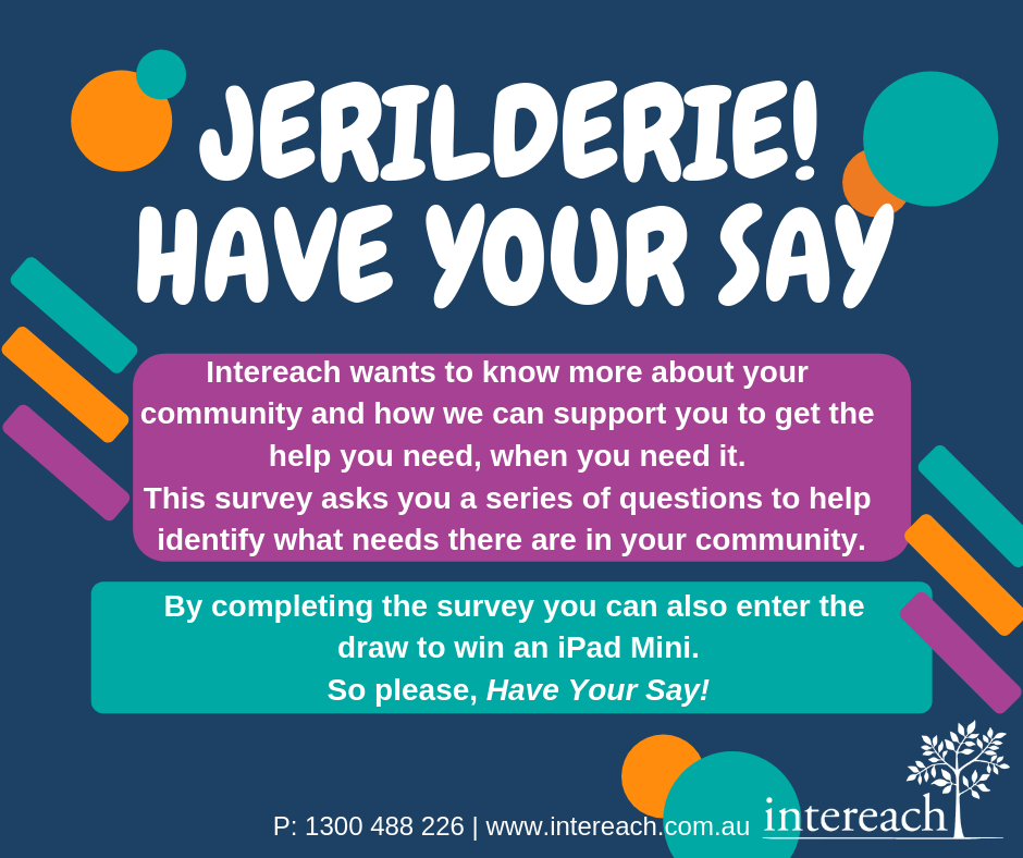 'Jerilderie Have Your Say' poster
