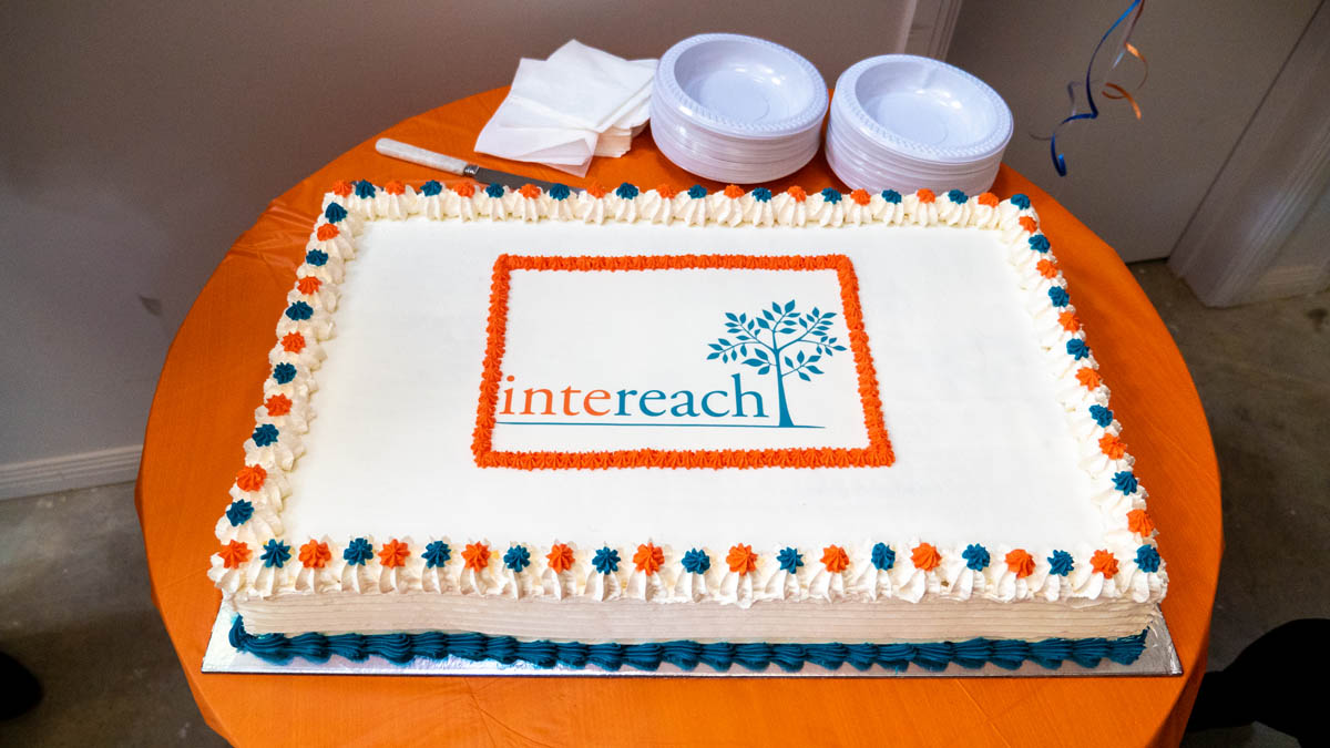Cake with Intereach logo